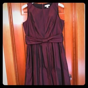Burgundy Taffeta prom dress